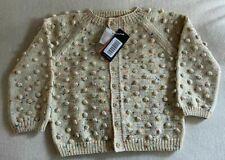 Misha & Puff Popcorn Cardigan - Primary Color Confetti, Wool, Size 7-8