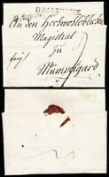 1796, kpl. Auslands-Teilfrankobrief von Augsburg nach Mömpelgard (Montbéliard F)