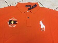 Polo Ralph Lauren Main Beach Yacht Club Mesh Shirt LT Orange Big Pony $125 NWT
