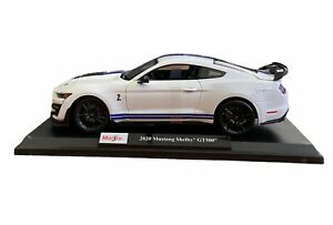 Maisto 2020 Mustang Shelby GT500 Die Cast Car Model 1:18 Scale Kids GT 500 White