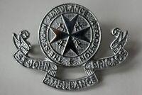 British St. John Ambulance Brigade Cap Badge. Chrome.