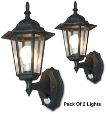 6-Panel Outdoor Lantern With IR Motion Sensor + Light Lux Control - Pack Of 2