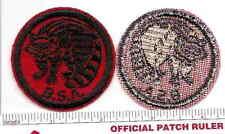 Old BSA  FELT Patrol Patch  -  RACCOON - 1940s Era - B & W Thread Back
