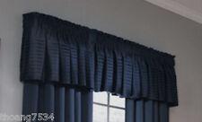 """Allen Roth LINCOLNSHIRE Pleated Satin Dark Navy Blue Window Valance 18"""" x 45"""""""