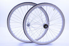 TRADITIONAL TOWN BIKE WHEEL SET COMPLETE 26 x 1 3/8 (590 RIM) SINGLE SPEED
