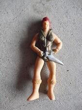 """Vintage 1984 Mi Rubber Warrior Girl Figurine 3 1/2"""" Tall"""