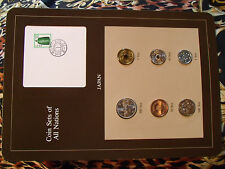 Coin Sets of All Nations Japan 1981 - 1985 UNC 500 Yen 1983  w/card