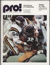 1973 EAGLES vs JETS  Football Game Program