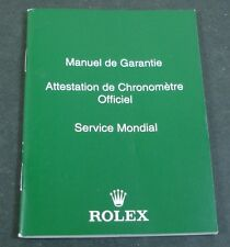 Genuine Rolex Collectible Green Translation Booklet Manual USA Seller