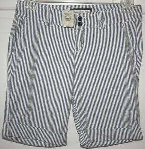 NWT Womens Abercrombie & Fitch Striped Shorts Size 4
