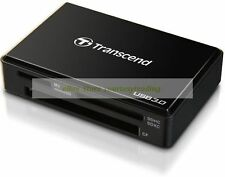 Transcend Black Card Reader / Writer Multi RDF8 F8 USB 3.0 New Lifetime Warranty
