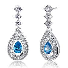 Orecchini di lusso con gemme farfalline pendente in argento sterling