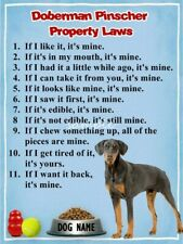 Doberman Property Laws Magnet Personalized With Your Dog's Name