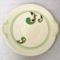 Royal Doulton Lynn Green Eared Sandwich or Cake Serving Plate Art Deco Vintage