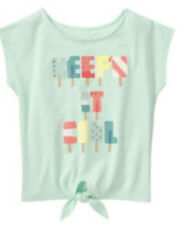 Nwt Gymboree Ice Cream Parlor Mint Green Girls Top Sz 6 Summer Fun