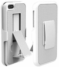 Puregear Apple iPhone 5 5S Belt Clip Holster Shell Case Combo W/ KickStand White