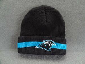 Carolina Panthers Nike Pro Line Beanie Ski Cap VTG Black Acrylic Knit Hat H7HPL