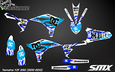 YZF 250 2010 MX motocross graphics decals kit 2011 2013 YZ250F stickers 2012 YZF