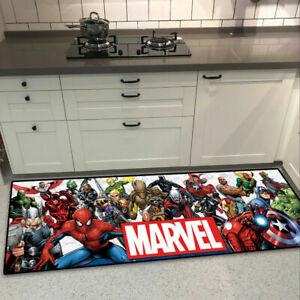 63Marvel Comic The Avengers Cool Velboa Floor Rug Carpet Kitchen Non-slip Mat uk