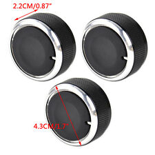 New 3 PCS Aluminum Alloy Air-Conditioning A/C Knobs Switch For Mazda3 03-09