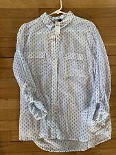 Gap ~ Women's Blue Tunic Top Shirt ~ Cute!