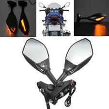Carbon Motorcycle Rearview Mirrors LED Indicators Triumph  Daytona 675R 2011
