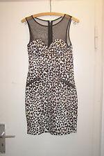 H&M Leo-Kleid Leopardenmuster ärmellos Netz Mesh