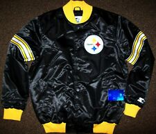 PITTSBURGH STEELERS STARTER Snap Down Jacket BLACK   M L XL 2X