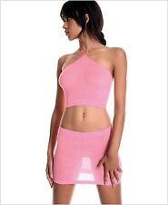 Music Legs Halter Top W/ Slim Skirt 9947 Black One Size
