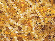 U Choose Size! VANILLA & METALLIC GOLD Gift Basket Shred Crinkle Paper Filler