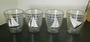 Tervis Tumbler 12 oz Set of 4 Tumblers with Embroidered Sailboat Nautical Theme