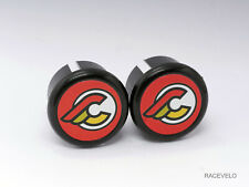 cinelli red Plugs Caps guidon tapones bouchons lenker vintage style flat New