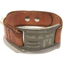 DIESEL DX0682040 bracciale In cuoio e metallo altezza cm 2,95 spessore mm 3