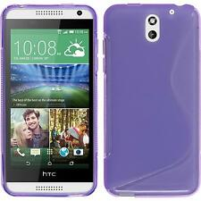 Silicone Case for HTC Desire 610 S-Style purple + protective foils