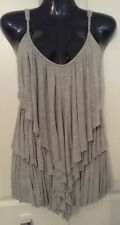 SIZE 6 WOMEN'S GREY SHOESTRING TEIRED 'BLUE JUICE' TOP