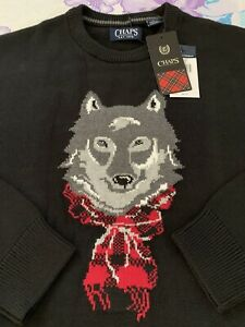 Size 2XL Chaps by Polo Ralph Lauren Men Pullover Sweater With Dog XXL