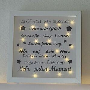 Personalisierter Leuchtbilderrahmen Leuchtrahmen Leuchtbild Sterne Sternenlicht