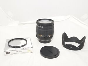Sigma DC 17-70mm f/2.8-4.5  Macro HSM Lens For Nikon with Hood  and UV Filter.