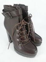 Ladies Ideal Platfrom Ankle Boots Brown UK 3 EU 36 LN24 13 SALE