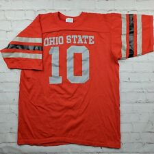 Vintage OHIO STATE BUCKEYES Jersey SHIRT Striped Sleeves Mens Large 80s