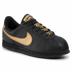 Nike Cortez Basic SL VTF GS BV0419-001 Kids Youth Black Gold NEW
