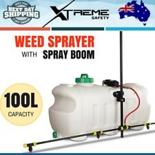 Weed Sprayer 100L Tank with Spray Boom 12V Rustproof Giantz 80psi Pump 3 Nozzles