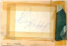 Guy Mitchell + Frankie Vaughan signed autograph album page 1950s singer/actor