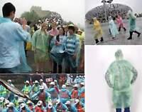 10Pcs Disposable Emergency Rain coat Raincoat Poncho for Camping Hiking SE