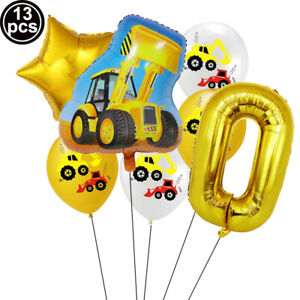 Balloon Set Digital Balloon Yellow Excavator Theme Birthday Party Decoration Hot
