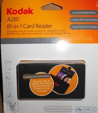 Kodak A281 81-in-1 Universal Card Reader/Writer Mac/PC USB 2.0 SD HC MICRO SD CF