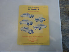 Andy Bernbaum  Auto Parts Catalog Book from 1930 to 1962-   VINTAGE AND RARE
