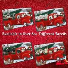 Christmas Santa Express Delivery Red Truck Hanging Slate, Dogs, Cats, Pet