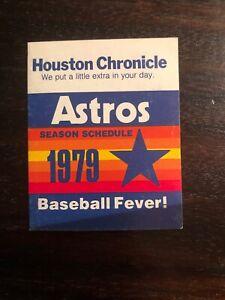 HOUSTON ASTROS SCHEDULE   /  1979