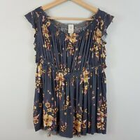 FREE PEOPLE | Womens Off The Shoulders Print Top NEW [ Size M or AU 12 / US 8 ]